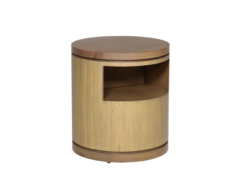 Round wooden bedside table TEABU | Bedside table by WARISAN