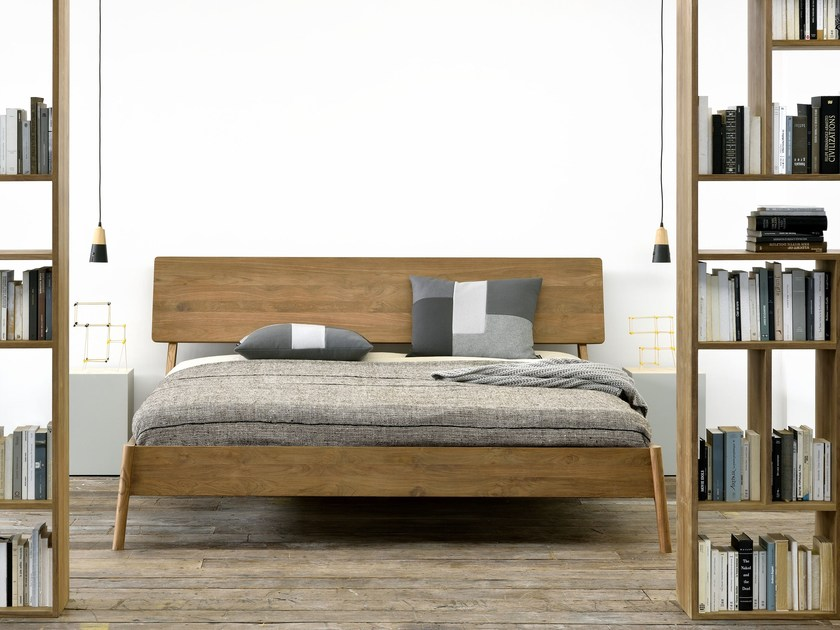 Teak double bed TEAK AIR BED | Bed by Ethnicraft