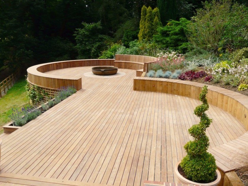 Decking in teak teak by d co for Garden decking companies