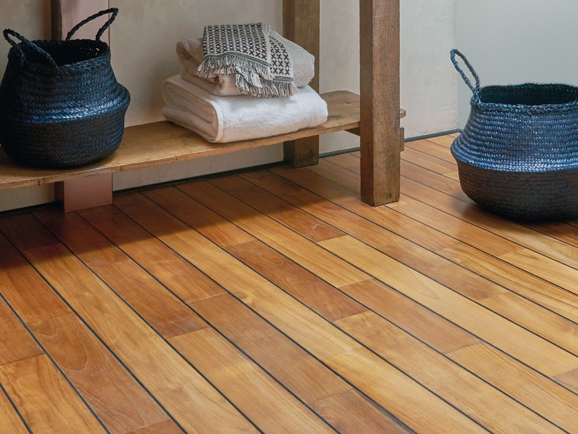 Wood Floor For Wet Areas Teak Pre Oiled Ulysse By Panaget