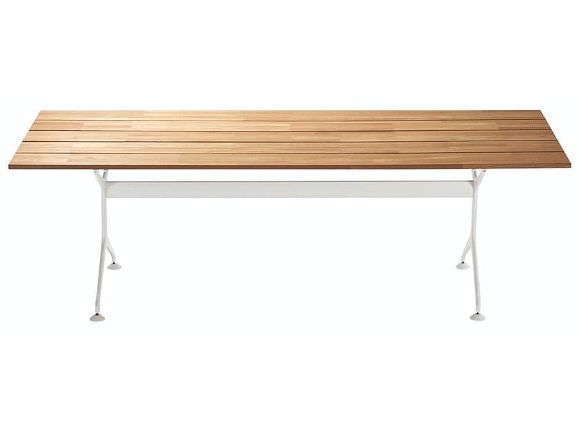Rechteckiger Gartentisch aus Aluminium und Holz TEAK TABLE 200 - 486_200_O by Alias
