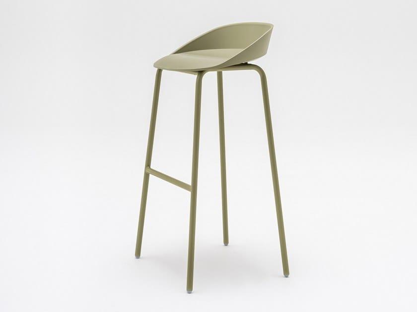 Polyurethane stool with footrest TEAM | Stool by MDD