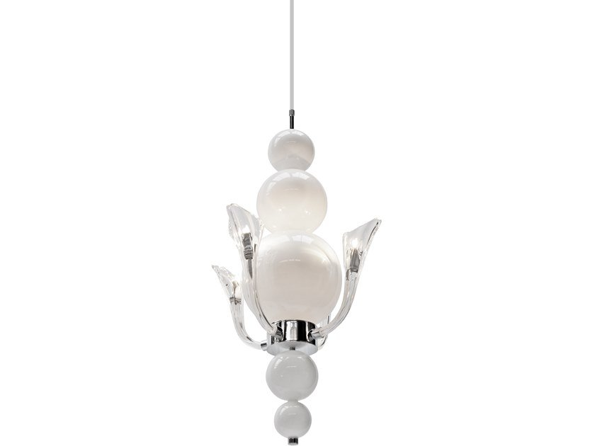 Indirect light glass pendant lamp TEARS FROM MOON H4 by ILFARI