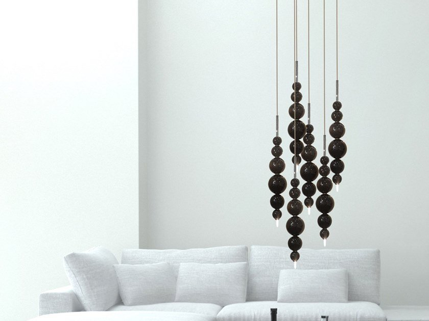 Contemporary style direct light glass pendant lamp TEARS FROM MOON H6 MINI by ILFARI