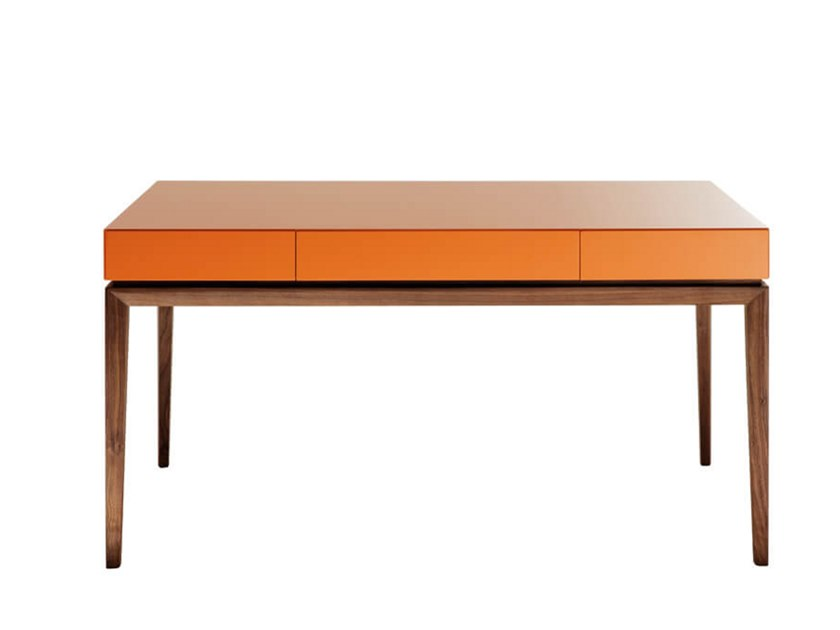 Lacquered writing desk with drawers TEATRO   Writing desk by HC28