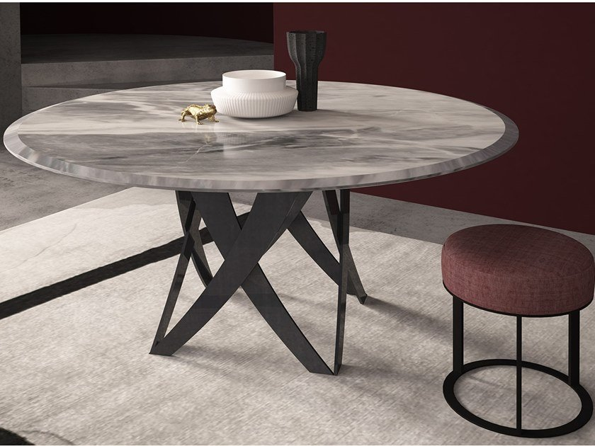 Round marble table TEBE | Round table by International Marmi