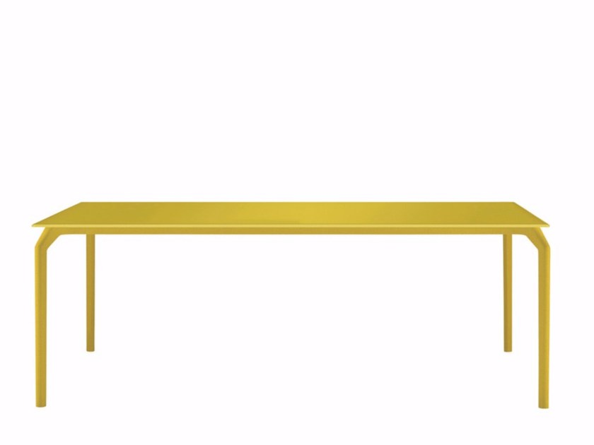 Lacquered rectangular table TEC 900 - 631 by Alias