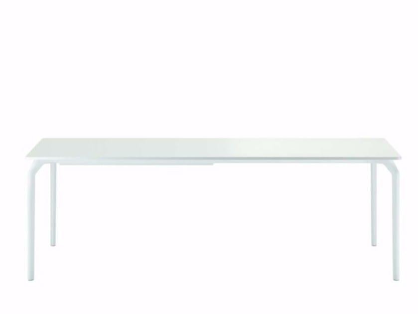Extending lacquered rectangular table TEC 900E+ - 640_+ by Alias