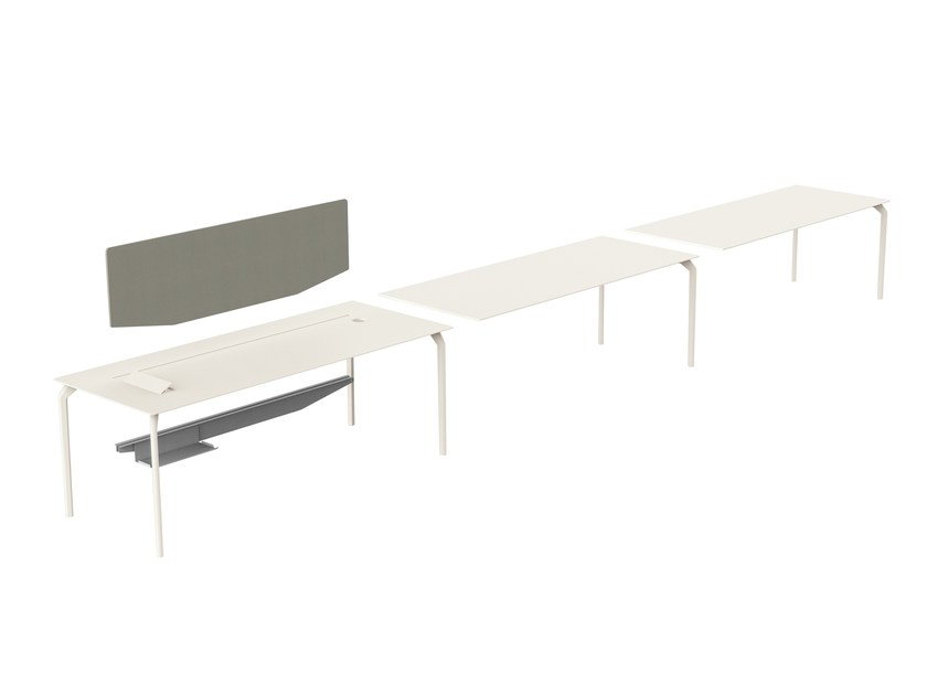Sectional rectangular office desk TEC SYSTEM by Alias