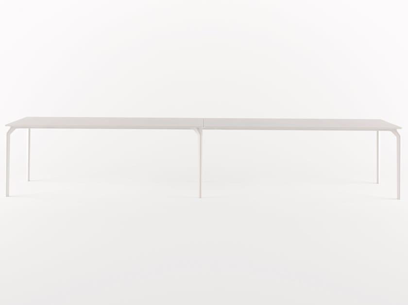 Rechteckiger Anbau-Schreibtisch TEC SYSTEM by Alias