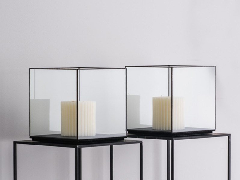 Glass storage box TECA by Adriani e Rossi edizioni