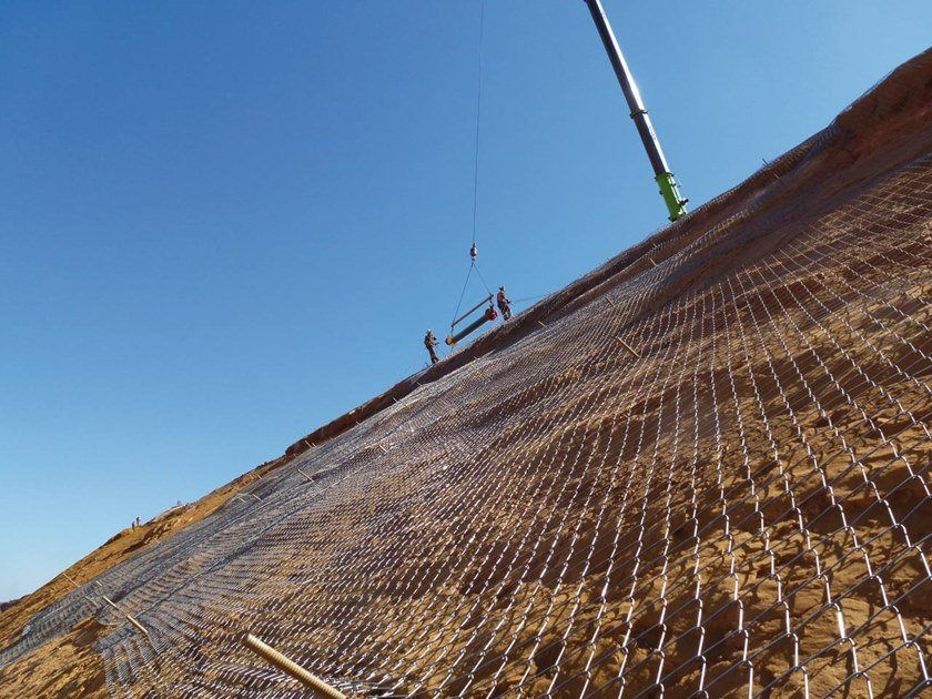 Slope stabilization Protective mesh TECCO® SYSTEM3 by GEOBRUGG