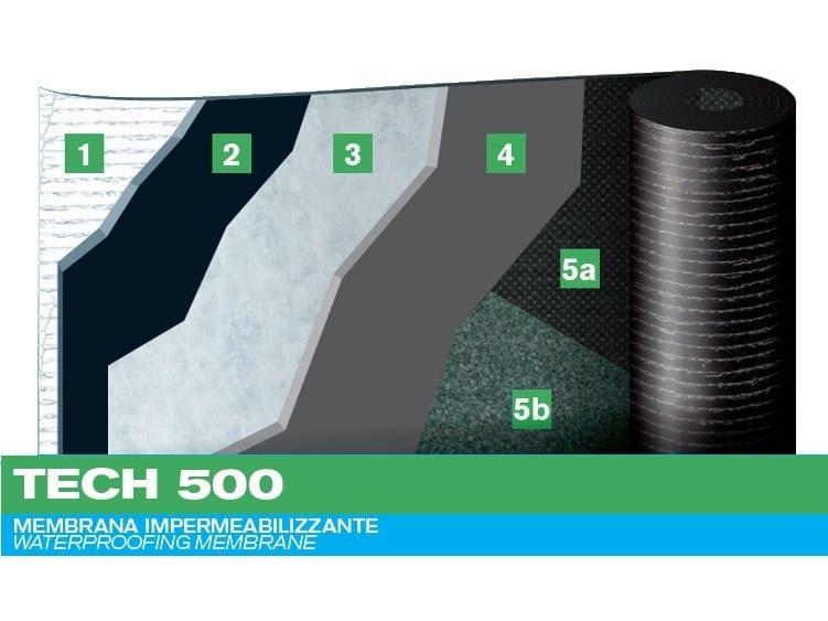 Prefabricated bituminous membrane TECH 500 by PLUVITEC