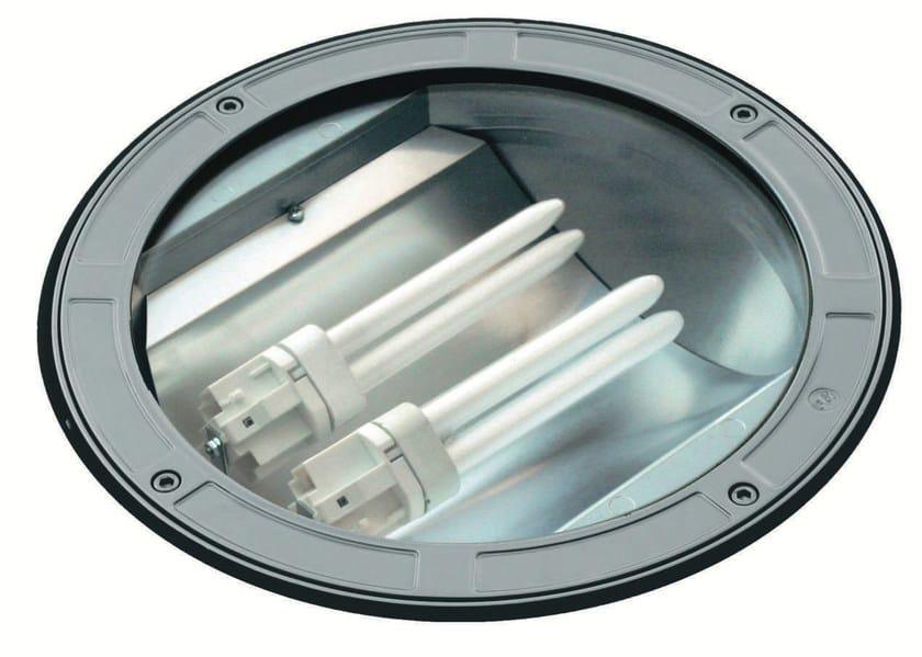 Walkover light fluorescent die cast aluminium steplight TECH F.1083 by Francesconi & C.