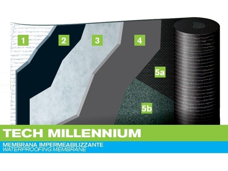 Prefabricated bituminous membrane TECH MILLENIUM by PLUVITEC