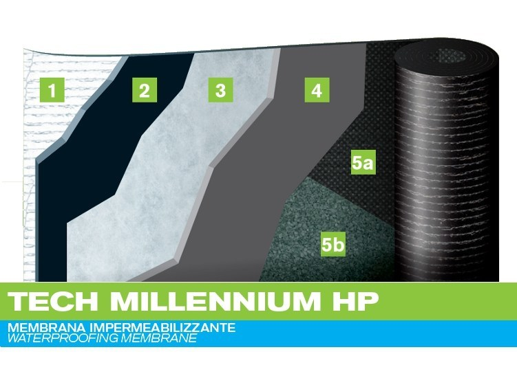 Prefabricated bituminous membrane TECH MILLENNIUM HP by PLUVITEC