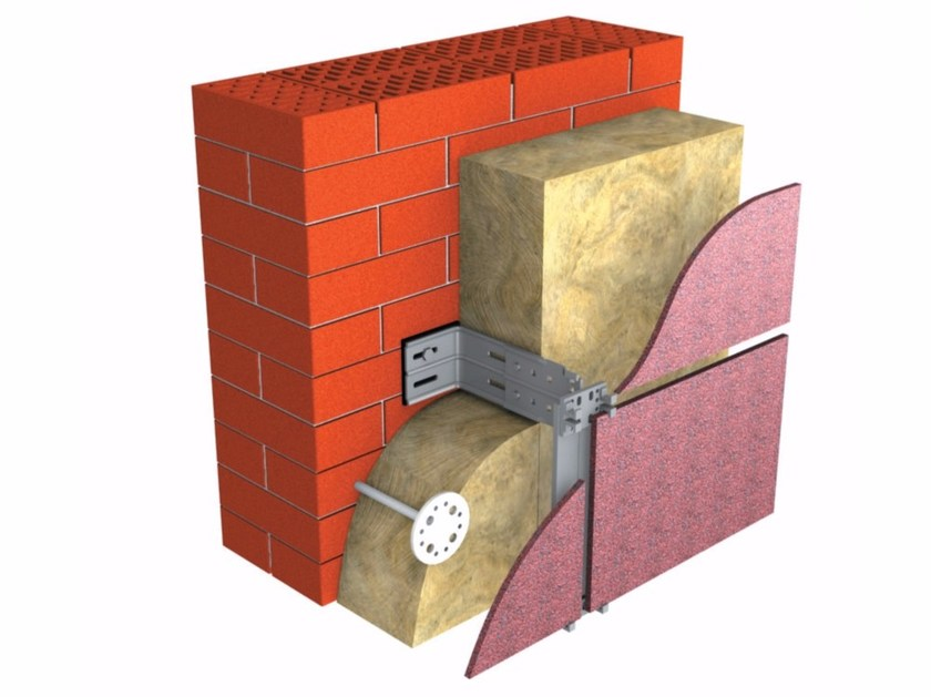 Rock wool Thermal insulation panel TECHNOVENT STANDARD by Imper Italia