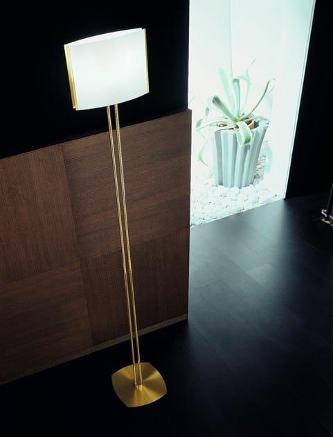 Brass floor lamp TECLA   Floor lamp by PANZERI