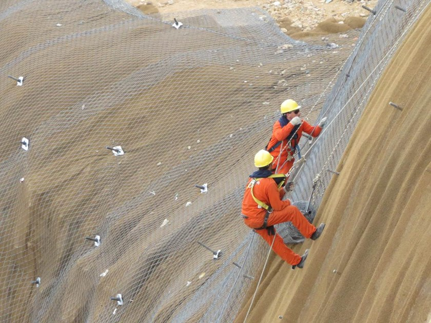 Slope stabilization Protective mesh TECMAT® by GEOBRUGG