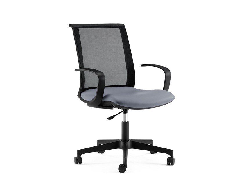 Task chair with 5-Spoke base with armrests TECNA | Swivel task chair by Arte & D