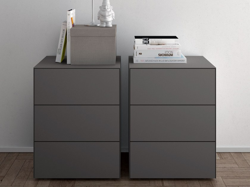Rectangular bedside table with drawers TECNO by PIANCA