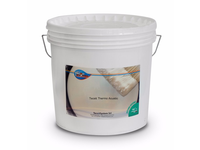 Pittura termoisolante e fonoassorbente TECSIT THERMO ACUSTIC by Tecsit System