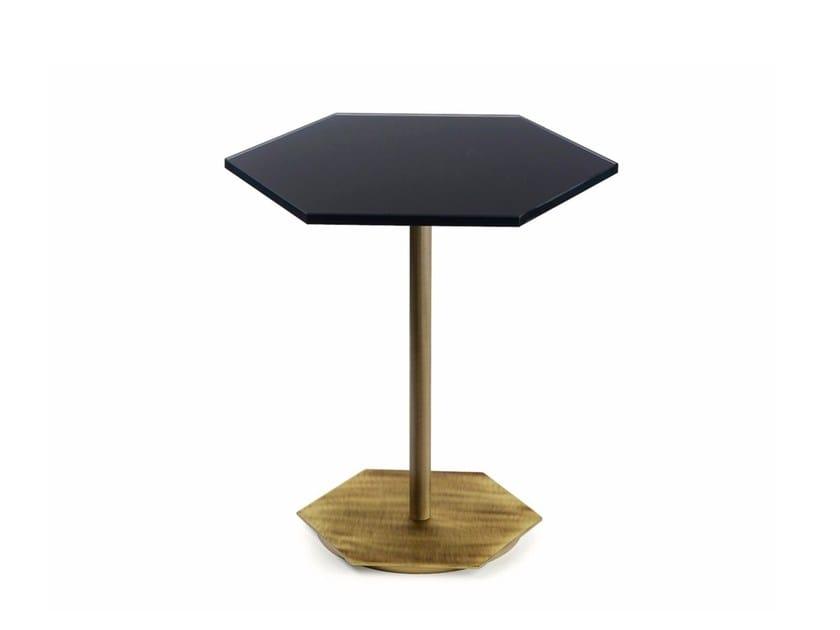 Tavolino basso in cristallo da salotto TED | Tavolino in vetro by MARIONI