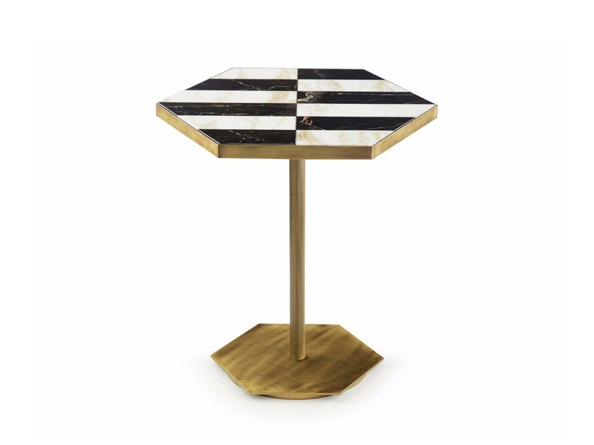 Low marble coffee table for living room TED   Marble coffee table by MARIONI