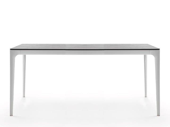 Rectangular aluminium dining table TEDDY by Marac