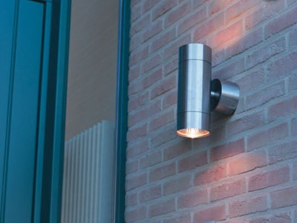 Direct Indirect Light Stainless Steel Outdoor Wall Lamp Teka
