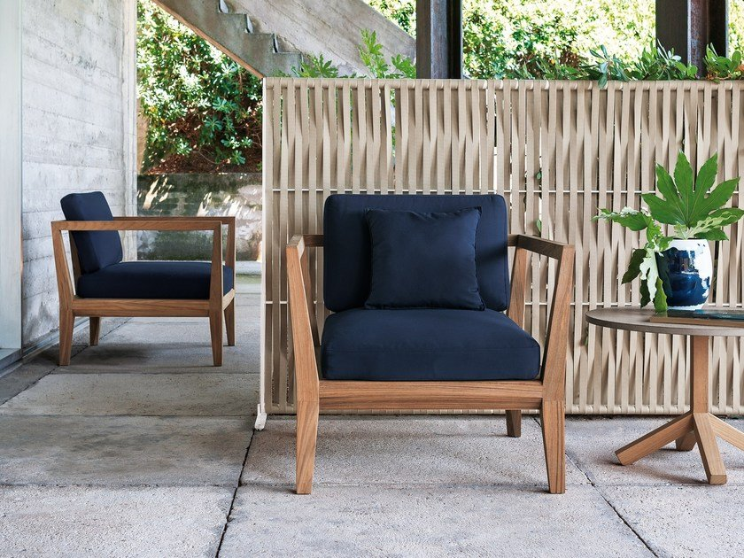 Teak garden armchair with armrests TEKA | Garden armchair by RODA