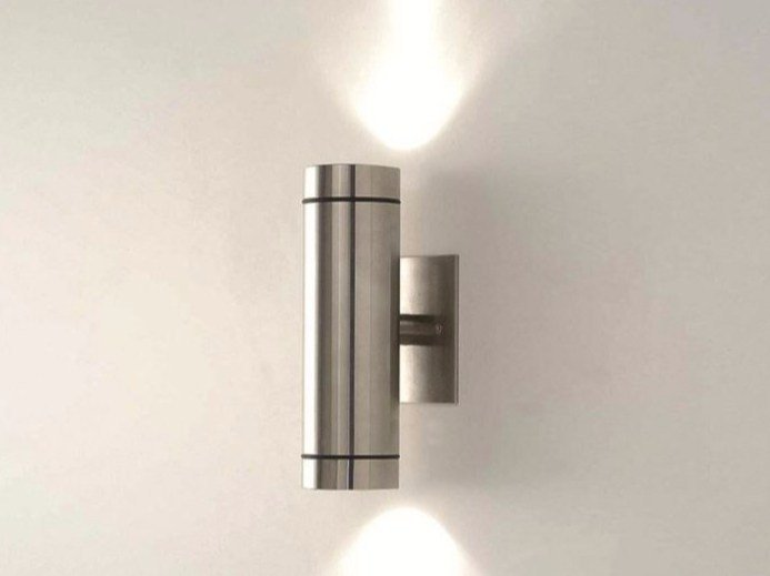 Direct Indirect Light Stainless Steel Outdoor Wall Lamp Teka In By Bel Lighting