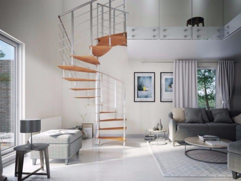 Square steel Spiral staircase TEKLA METAL by RINTAL