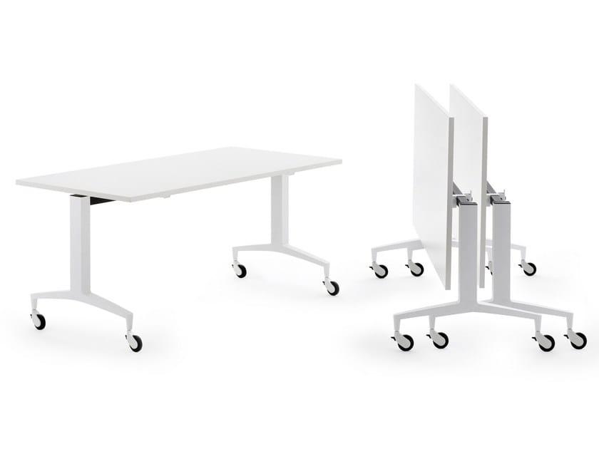 Tavolo da riunione rettangolare con piano a ribalta TEKNO by Diemmebi