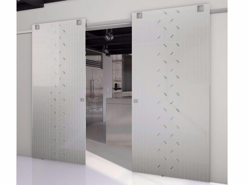 Porta scorrevole in vetro TEKNO TRE GARDEN by FOA