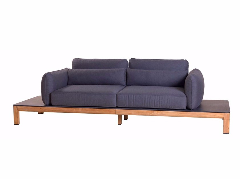 3 seater fabric sofa TEKURA | Sofa by Les jardins