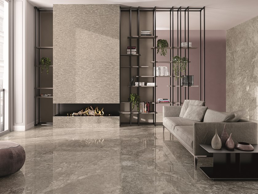 Porcelain stoneware wall/floor tiles with marble effect TELE DI MARMO BRECCIA BRAQUE by EmilCeramica by Emilgroup
