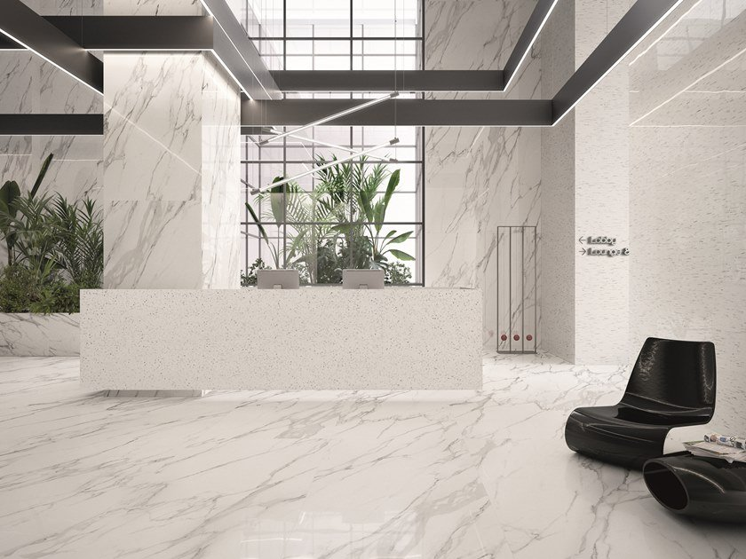 Indoor wall/floor tiles with marble effect TELE DI MARMO STATUARIO MICHELANGELO by EmilCeramica by Emilgroup