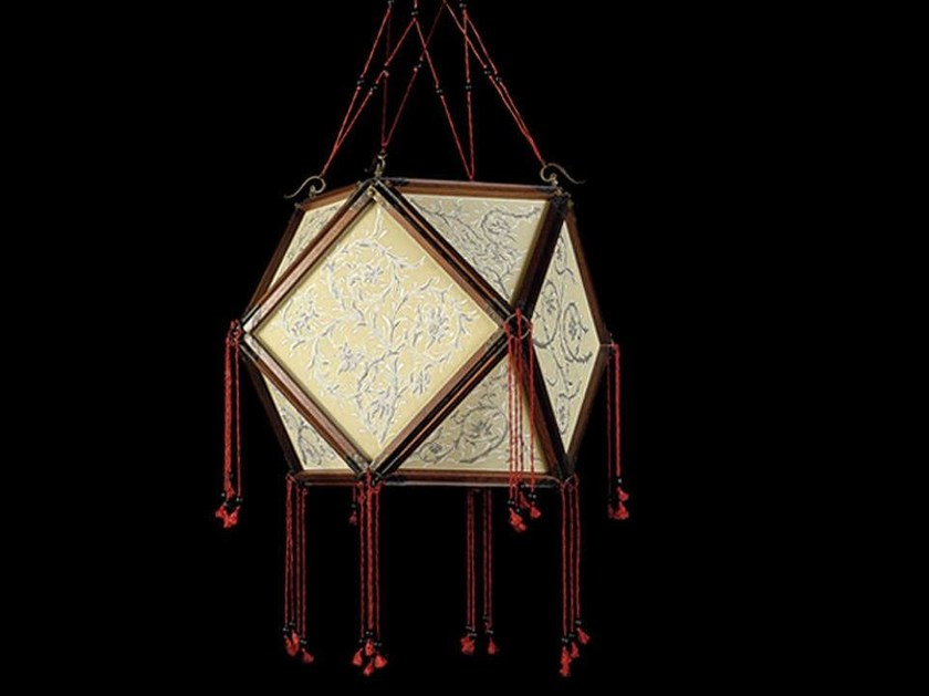 Silk pendant lamp TEMPIO by Fortuny
