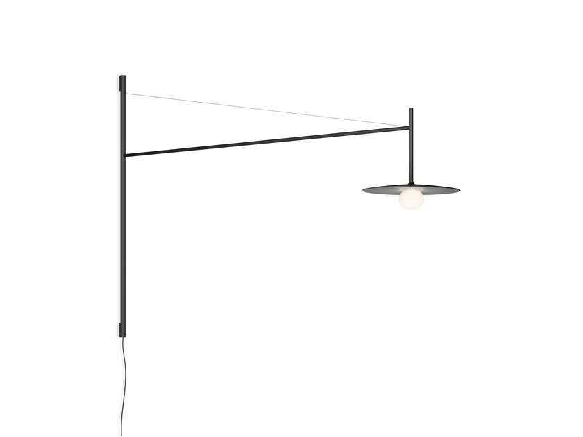 LED direct light adjustable glass and steel wall lamp TEMPO 5756_5757 by Vibia