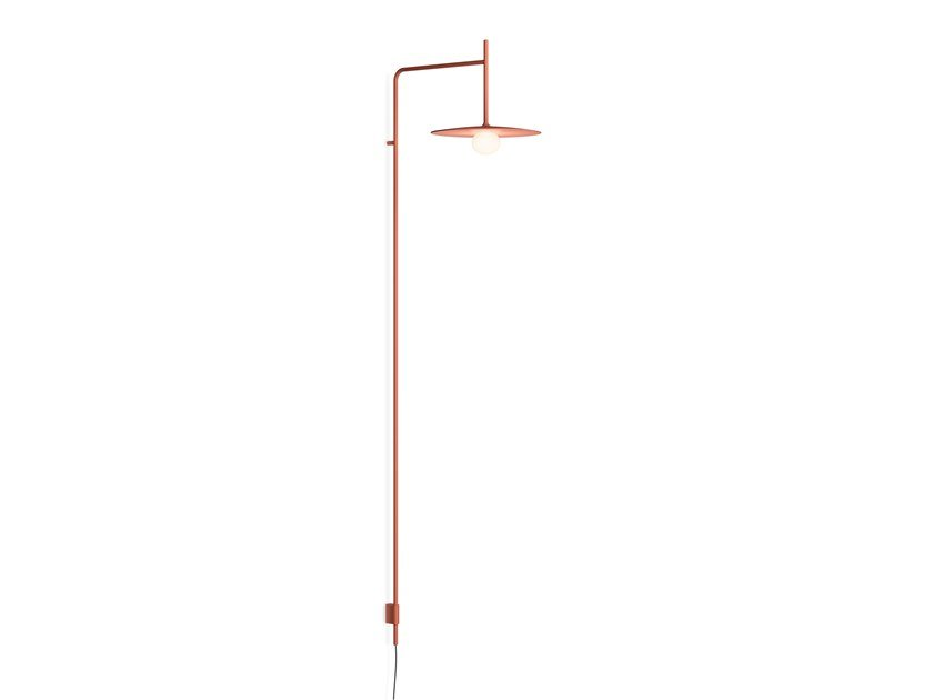 LED direct light steel wall lamp with fixed arm TEMPO 5762_5763 by Vibia