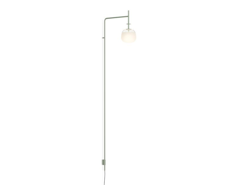 LED direct light steel wall lamp with fixed arm TEMPO 5764_5765 by Vibia