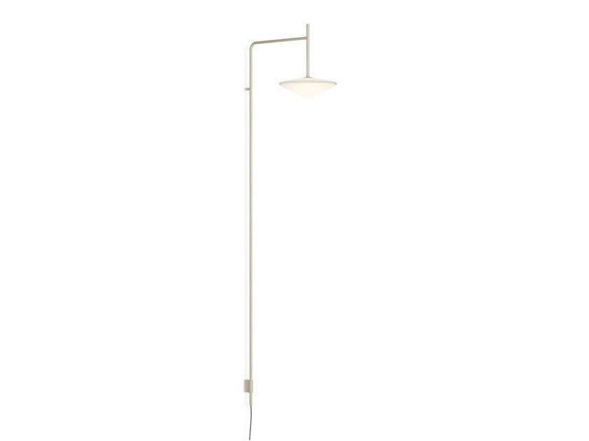 LED direct light steel wall lamp with fixed arm TEMPO 5766_5767 by Vibia