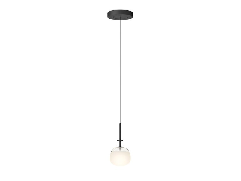 LED direct light glass and steel pendant lamp TEMPO 5772_5778 by Vibia