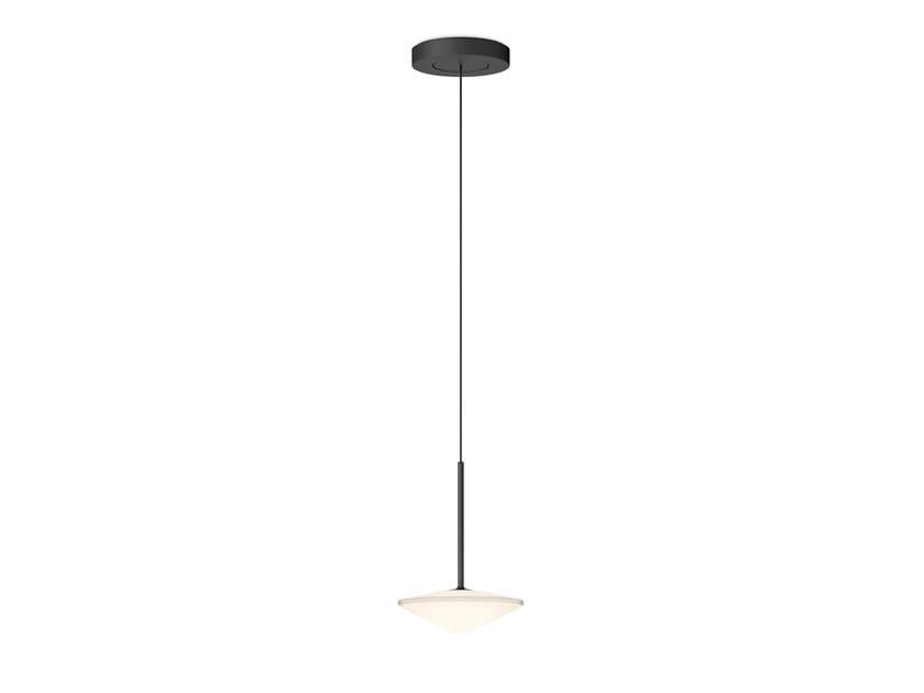 Lampada a sospensione a LED a luce diretta in acciaio e vetro TEMPO 5774_5780 by Vibia