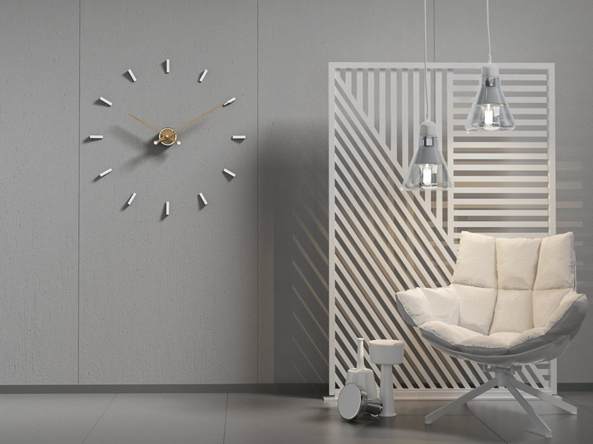 Wall-mounted metal clock TEMPO 80 by Materium