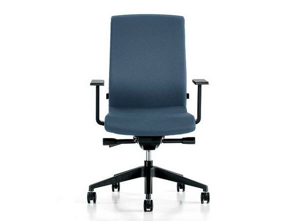 Task chair with 5-Spoke base with armrests TEN by Diemme