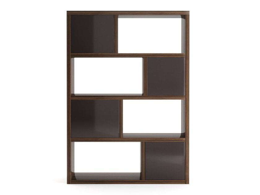 Open freestanding wooden shelving unit TENAFLY BIG | Open shelving unit by PRADDY