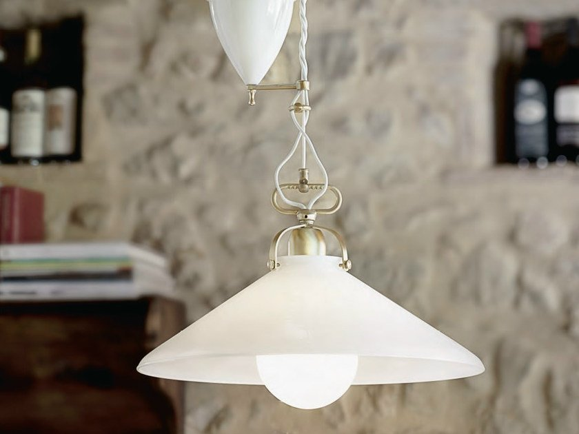 Glass pendant lamp TENDA | Pendant lamp by Aldo Bernardi