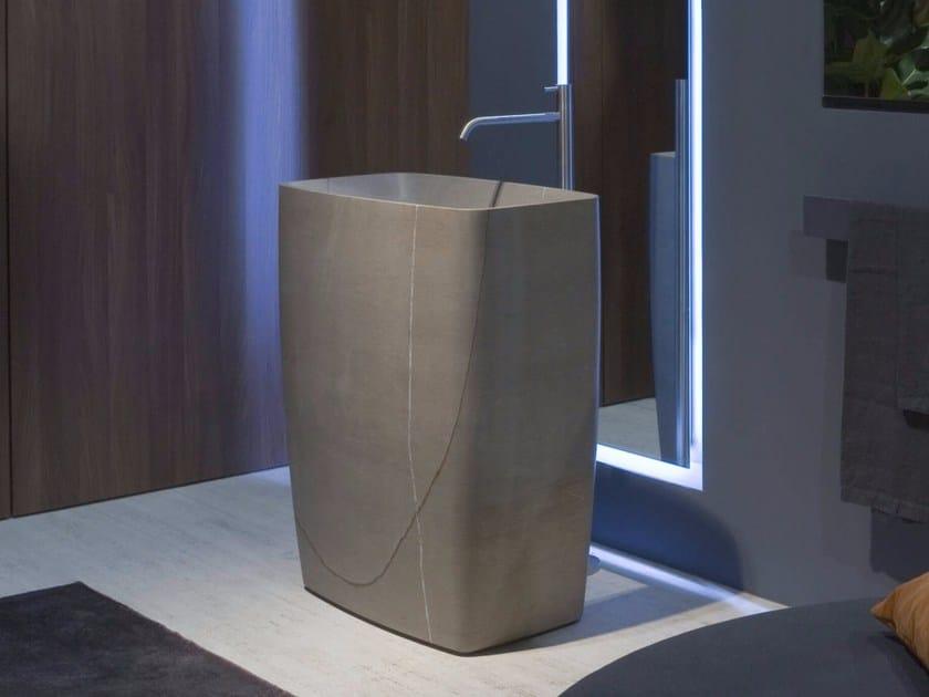 Freestanding Cristalplant® washbasin TENDER by Antonio Lupi Design